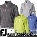 【17秋冬】【55%OFF】FOOTJOY(フットジョイ)FJ-F17-M51 長袖ハーフジップ ピンストライプ プルオーバー