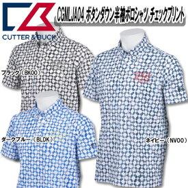【18春夏】【60%OFF】カッター&バック CGMLJA04 メンズ ボタンダウン 半袖ポロシャツ チェックプリント