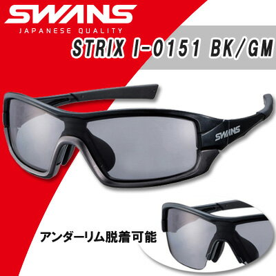 【60%OFF】SWANS(スワンズ)STRIX I-0151 BK/GM ストリックス・アイ 偏光レンズモデル