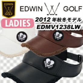 【12秋冬】【60%OFF】EDWIN GOLFレディース ボア付きバイザー EDMV1238LW