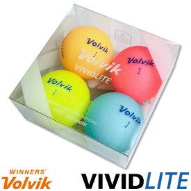 【特別パック】◆4球 Volvik(ボルビック)VIVID LITE(ビビットライト)ゴルフボール【11891】