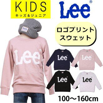 100-160cm kids Lee Lee logo print sweat shirt / crew neck / parent and child / family / matching / coordinates / LK0474_118_161_104_101 lye Sanshin /AXS SANSHIN/ sun Shin