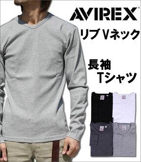 V neck long sleeve T shirt AVIREX / avirex / 617394 fs3gm