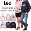 """""""Lee"""" logo print sweat shirt parka fleece pile / trainer /Lee/ Lee / LT2453_118_102_116_161_104_101 lye Sanshin /AXS SANSHIN/ sun Shin"""