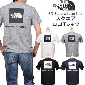 THE NORTH FACE ザ ノースフェイス S/S Square Logo Tee ショートスリーブ スクエア ロゴTシャツNT32038_W_Z_UN_Kアクス三信/AXS SANSHIN/サンシン【¥4200(本体)+税】