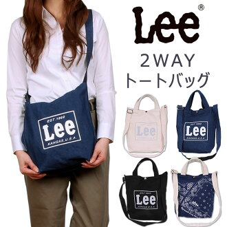 Lee 2WAY大手提包/肩膀/粗斜纹布/帆布/帆布/TOTE BAG Lee/ri/QPER60_0287_0286_0288-0425315