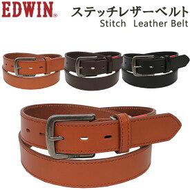 Stitch Leather Belt(ステッチ レザー ベルト)EDWIN/エドウィン/エドウイン/牛革/EDWIN--0110937アクス三信/AXS SANSHIN/サンシン