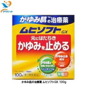 かゆみ肌の治療薬 ムヒソフトGX 100g 第3類医薬品 皮膚の薬 かゆみ 虫さされ 皮ふ炎 かぶれ じんましん しっしん しもやけ あせも 池田模範堂 m0 月間優良ショップ
