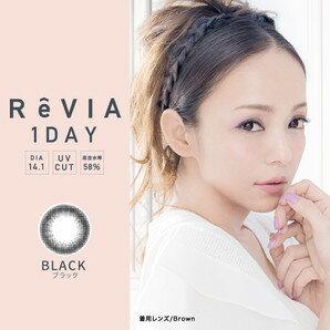 ReVIA 1day 10枚入り CIRCLE レヴィア ワンデー 安室奈美恵 1day 度なし 度あり カラコン サークルレンズ コンタクトレンズ 使い捨て