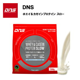 【即納】 DNS ホエイ&カゼイン プロテイン SLOW ミルク風味 (1kg) あす楽対応 送料無料 スロー スロウ プロテイン ホエイ ホエイプロテイン カゼイン カゼインプロテイン ロイシン おすすめ ランニング 味 種類