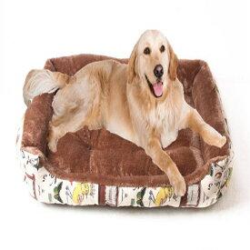 犬のベッド 猫ベッド 中型犬、大型犬用 ペットベッド 春夏秋冬通用 柔らかい 犬寝具 スクエア クッションベット サイズ80cm 90cm ふわふわ 防寒対策