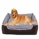 犬 ベッド 中型犬 大型犬 寝具 猫ベッド ペットベッド ふわふわ 角型 クッションベッド 春夏秋冬通用 チェック柄 取り…