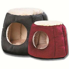 犬ベッド 猫ベッド ペットハウス ペットソファ 2WAY ドーム型 ホカホカ ぐっすり眠れる 冬寒さ対策 クッション 寝袋 サイズM サイズL