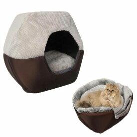 犬ベッド 猫ベッド ペットハウス ペットソファ 両用設計 ドーム型 ホカホカ 折り畳み式 ぐっすり眠れる 冬寒さ対策 クッション 寝袋 サイズL