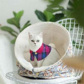 秋冬防寒トンネルベッド 小型犬 猫寝袋 トンネル型 折りたたみ ペットベッド クッション付き キャットベッド 寝床