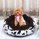 ペットベッド 猫 ベッド 犬 ベッド 円型 モコモコ 起毛素材 通年用 ドッグベッド 秋冬防寒 洗える 通気 お洒落 トラ柄…