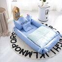 ベビーベッド 新生児ベッド 双子ベッド インベッド ベビーガード 添い寝ベッド 寝返り防止 オムツ換え 枕付き 布団付…