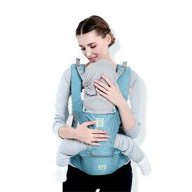 抱っこ紐 新生児 子守帯 スリング ヒップシート付き 対象月齢3ヶ月〜36ヶ月 ヨコ抱っこ/対面抱っこ/前向き抱き/おんぶ/腰抱っこ 通気性良い 2タイプ 通年用 ピンク グレー ブルー