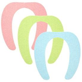 レックぴたQ吸着べんざシート3色セット(ブルー&グリーン&ピンク)BB-481【レックトイレ便座カバーシート】
