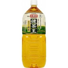 【ケース販売】カルピス 健茶王 香ばし緑茶 2L×6本【RCP】