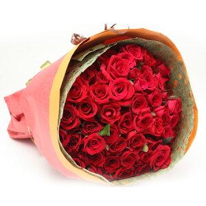 【送料無料】バラの花束50本入り赤系【バラ 花束 薔薇 薔薇の花束 バラの花束 赤 誕生日 還暦祝い 記念日】