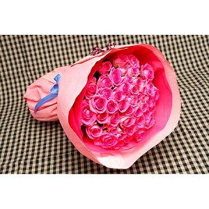 【送料無料】バラの花束50本入りピンク系【バラ 花束 薔薇 薔薇の花束 バラの花束 ピンク 誕生日 還暦祝い 記念日】