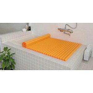 Agカラーイージーウェーブ風呂ふたL12(75×121cm)オレンジ(風呂蓋ふた蓋風呂フタ)【RCP】