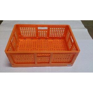 収穫用折り畳みコンテナ(オレンジ)【オリコン折りコン折りたたみコンテナコンテナカゴ】