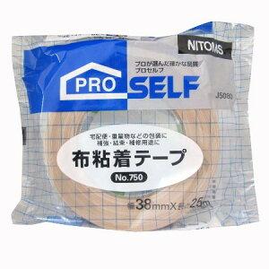 布粘着テ−プ750 38×25N【ニトムズ テープ 梱包 クラフトテープ ガムテープ】