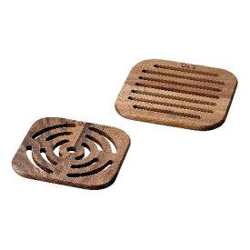 D&Sスクウェアトリベット2pcsセットMP.10046【D&S木製食器テーブルウェア鍋敷き木製鍋敷き】