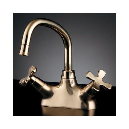 カクダイ 2ハンドル混合栓ゴールド 151-202【カクダイ KAKUDAI 151-202 水道用品 混合栓 デザイン水栓】