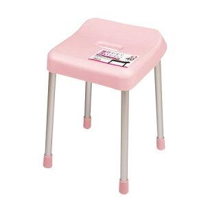 スタイルピュアバススツール40cm(ピンク)【パール金属風呂椅子スツール】
