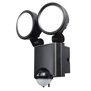 屋外用 LEDセンサーライト AC電源 16W 白色LED ESL-SS802AC【朝日電器 防犯 庭 センサーライト 玄関 外】