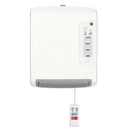 脱衣所暖房機 DWC-A1207-WH【ゼピール 暖房 脱衣所 洗面所 暖房機 あったか】