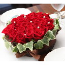赤バラのフラワーケーキ