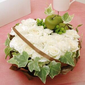 オリジナルフラワーケーキホワイトカラー