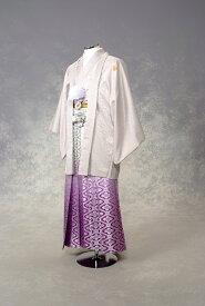【レンタル】紋付袴レンタル・きものレンタル・男物羽織袴・成人式・卒業式・往復送料無料・グレーに紫