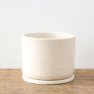 よしおかれいさんの鉢(M3.5号鉢)受皿付き(観葉植物多肉植物植え替えシンプルおしゃれ植木鉢ポット限定別注