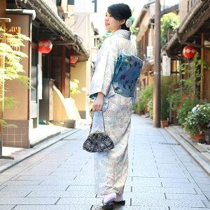 【在庫商品】6寸がま口ギャザーバッグ【ステッチフラワー】|和小物和雑貨かわいいレトロ浴衣ゆかた日本製京都がま口バッグがまぐちバッグ母の日プレゼントギフトあやの小路