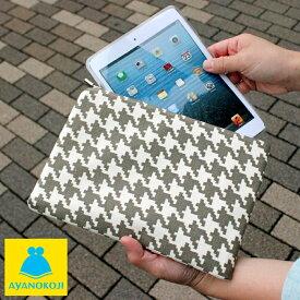 がま口 【受注生産品】がま口iPad miniケース【帆布・バードチェック】iPad mini Nexus 7 Kindle fire HD タブレット スマホ スマートフォン がま口
