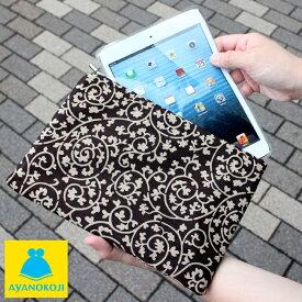【受注生産品】がま口iPad miniケース【帆布・蛸唐草】iPad mini Nexus 7 Kindle fire HD タブレット スマホ スマートフォン がま口