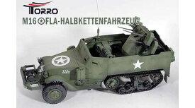 ラジコン戦車完成品トロTorro M16 ハーフトラック オリーブドラブ(サウンド仕様)