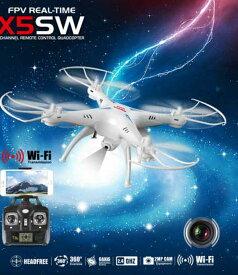 SYMA/シーマ X5SW WIFI 2MPカメラ/バッテリー2個付き 空撮・リアルタイム FPV ドローン(X5SW-1)