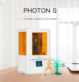 Anycubic PHOTON-S 光造形式 3Dプリンター(ホワイト仕様オレンジ窓)レジン無【正規販売代理店】