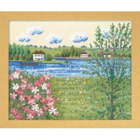 オリムパス クロスステッチ ししゅうキット ヨーロッパの花風景 セーヌ河の春(フランス) 7362