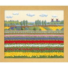 オリムパス クロスステッチ ししゅうキット ヨーロッパの花風景 チューリップ畑(オランダ) 7361