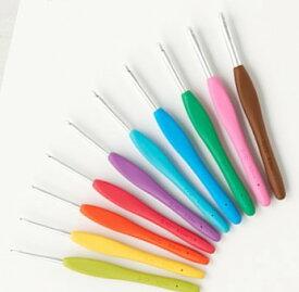 クロバー かぎ針セット「アミュレ」+かぎ針「アミュレ」7.5/0号・9/0号 10本セット (43-321+42-427+42-409) | 10本セット アミュレ セット 編み針 編針 レース針 かぎ針 編み針 編み針セット