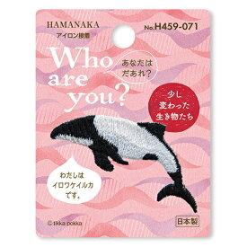 ハマナカ ワッペン Who are you ? イロワケイルカ H459-071