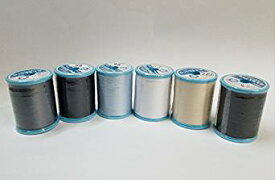 FUJIX(フジックス)シャッペスパン 60番 200m 6色セット ミシン糸 ブルー系