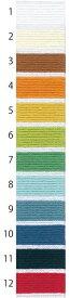 オリムパス 刺し子糸 単色(袋入り) 1〜12番